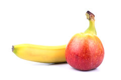 Banana and apple Stock Image