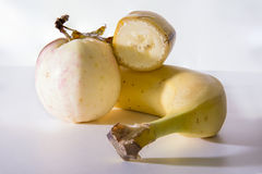 Banana and apple Stock Photo