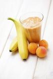 Banana and apricot shake Royalty Free Stock Photos