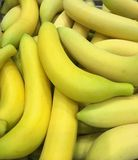 Banana. Artificial fruit banana for home decoration stock image