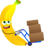 Banana as delivery man Stock Photo