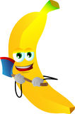 Banana with an axe Royalty Free Stock Images