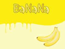 Banana background Royalty Free Stock Photography