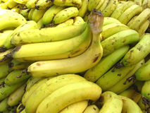 Banana Background. Bunch of fresh riped bananas for sale Stock Images