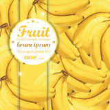 Banana Background. Banana seamless pattern ornamental concept illustration,fruits texture whit space for text Stock Photo