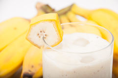 Banana bananas and banana smoothie Stock Images