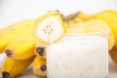 Banana bananas and banana smoothie Stock Image