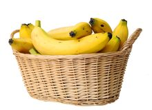 Banana in basket Royalty Free Stock Image