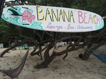 Banana Beach. Chill bar on the beach Stock Images