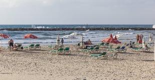 Banana Beach in October. Tel Aviv, Israel Stock Images