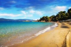 Banana beach, Skiathos, Greece Royalty Free Stock Images