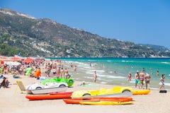 Banana Beach, Zakynthos, Greece Royalty Free Stock Images