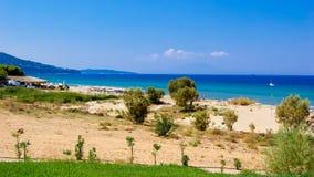 Banana Beach, Zakynthos Island, Greece. Royalty Free Stock Photography
