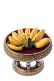 Banana on beautiful tray Royalty Free Stock Images