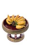 Banana on beautiful tray Stock Photo
