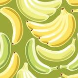 banana bezszwowy deseniowy Zdjęcia Stock