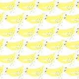 Banana bezszwowy wektorowy tło Zdjęcia Royalty Free