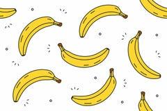 Banana bezszwowy wzór Obraz Stock