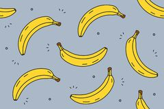 Banana bezszwowy wzór Fotografia Royalty Free