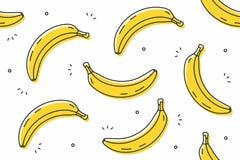 Banana bezszwowy wzór Zdjęcie Stock