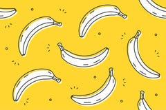 Banana bezszwowy wzór Obrazy Royalty Free