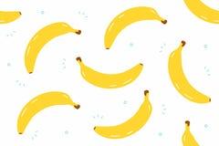 Banana bezszwowy wzór Obrazy Stock