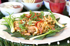 Banana blossom salad with shrimp Royalty Free Stock Photo