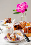 Banana and blueberry bread.style vintage Stock Image
