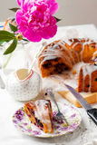 Banana and blueberry bread.style vintage Royalty Free Stock Image