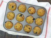 Banana blueberry mini muffins Royalty Free Stock Image