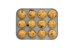 Banana blueberry mini muffins Royalty Free Stock Image