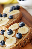 Banana and Blueberry Royalty Free Stock Photo