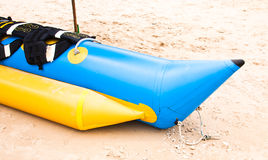 Banana boat on beach Stock Photography