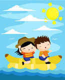 Banana Boat Stock Photo