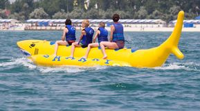 Banana boat Stock Image