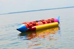 Banana boat. Inflatable banana boat at dam, Thailand Stock Photography