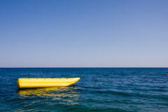 Banana boat in a sea Stock Photo