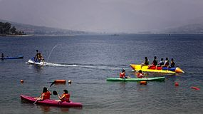Banana Boat Subic bay Royalty Free Stock Photo