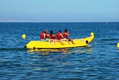 Banana boat, Torremolinos, Spain. Stock Photo