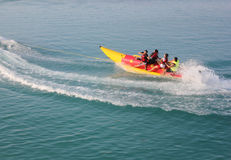 Banana Boating at Tidung Island Stock Photos