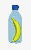 Banana in bottle Stock Image
