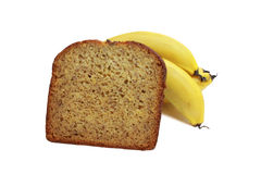 Banana bread and bananas Royalty Free Stock Image