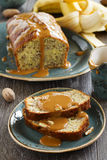 Banana bread with caramel sauce Stock Photo