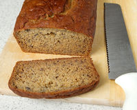 Banana bread closeup Royalty Free Stock Photo