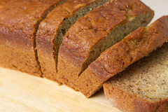 Banana bread closeup Stock Photos
