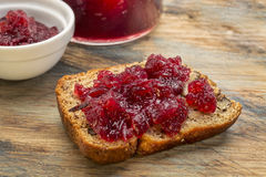 Banana bread with cranberry Stock Photography