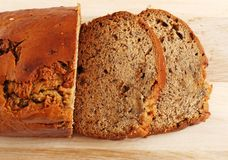 Banana bread focus on slices Stock Photo