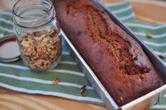 Banana Bread with nut Stock Photography