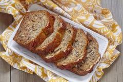 Banana bread with pecan Stock Photo