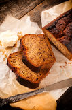 Banana bread sliced Stock Photography